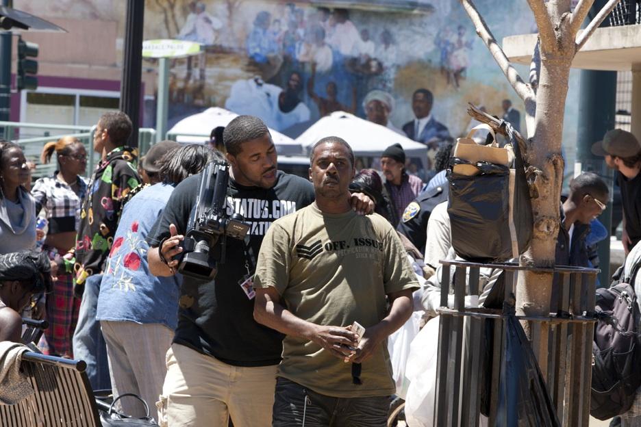 SFPD-Kenneth-Harding-murder-press-conf-3rd-Oakdale-crowd-071811-4-by-Malaika-web, San Francisco police claim Black youth shot himself … say what!, Local News & Views