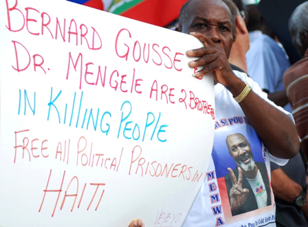 Veye-Yo-protests-ex-Min-of-Justice-Bernard-Gousse-at-Haitian-Diaspora-Annual-Congress-Trump-Plaza-North-Miami-Beach-2009-by-Wadner-Pierre, Why Bernard Gousse should not be Haiti's next prime minister, World News & Views