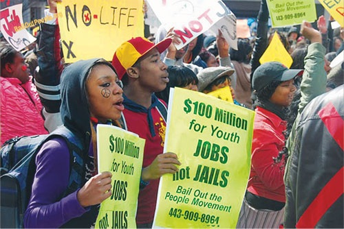 Youth-jobs-rally-Baltimore-DC, How racism, global economics and the new Jim Crow fuel Black America's crippling jobs crisis, National News & Views