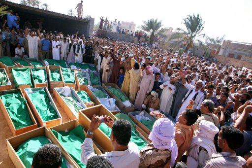 Funeral-for-85-killed-in-080811-NATO-bombing-inc.-33-children-by-Imed-Lamloum-AFP, NATO'S 'Qana Massacre' at Majer, Libya, World News & Views