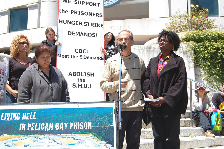 Hunger-strikers'-parents-Marie-Randy-Maria-Irma-speak-at-solidarity-rally-at-SF-State-Bldg-080111-by-Patricia-Jackson, Supermax prisons: 21st century asylums, Behind Enemy Lines