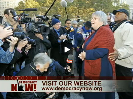 Lynne-Stewart-speaks-to-press-husband-Ralph-Poynter-outside-courthouse-111809-DN-video1, The People's Lawyer: an interview wit' Lynne Stewart, Behind Enemy Lines
