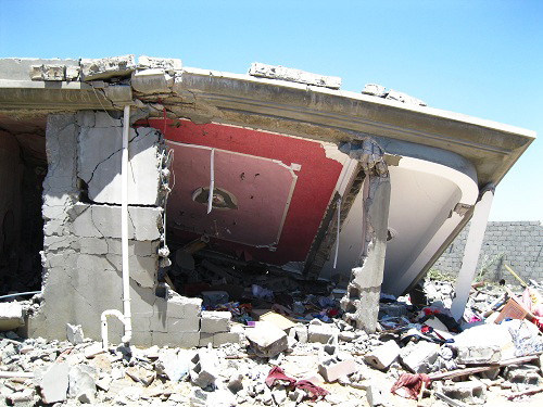 NATO-080811-bombing-destruction-of-civilian-homes-in-farming-village-of-Majer-Libya-by-©2011-Matthew-Ozanon1, NATO'S 'Qana Massacre' at Majer, Libya, World News & Views