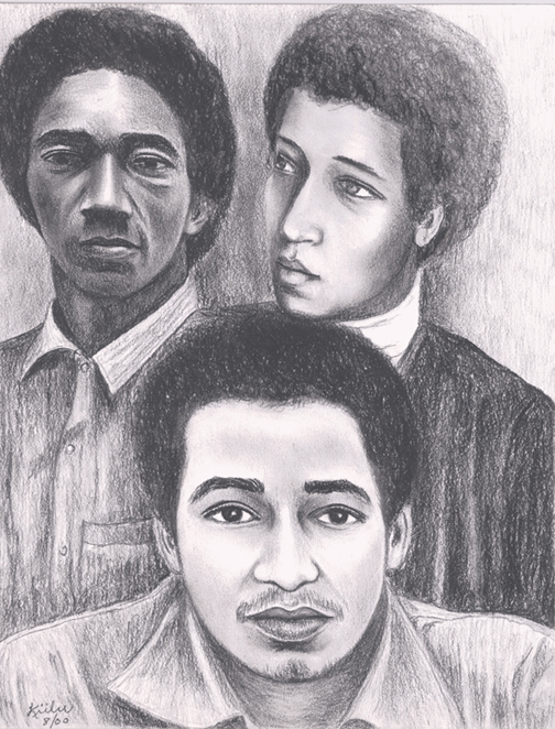 Ruchell-Magee-George-Jonathan-Jackson-drawing-by-Kiilu-Nyasha-web, Commemorating the 40th anniversary of the assassination of Comrade George Jackson, Behind Enemy Lines