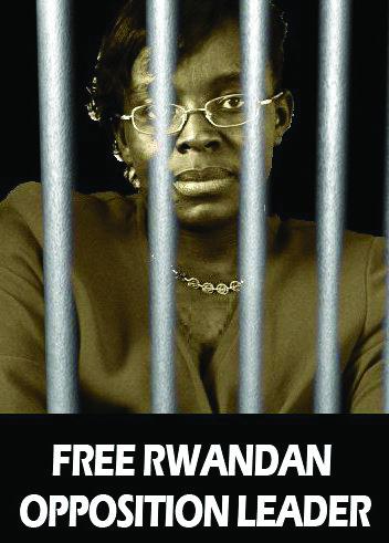 Victoire-behind-bars, Free African political prisoner Victoire Ingabire, World News & Views