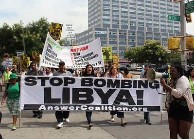 ANSWER-Coalition-march-Stop-bombing-Libya-081311, The truth about the situation in Libya, World News & Views