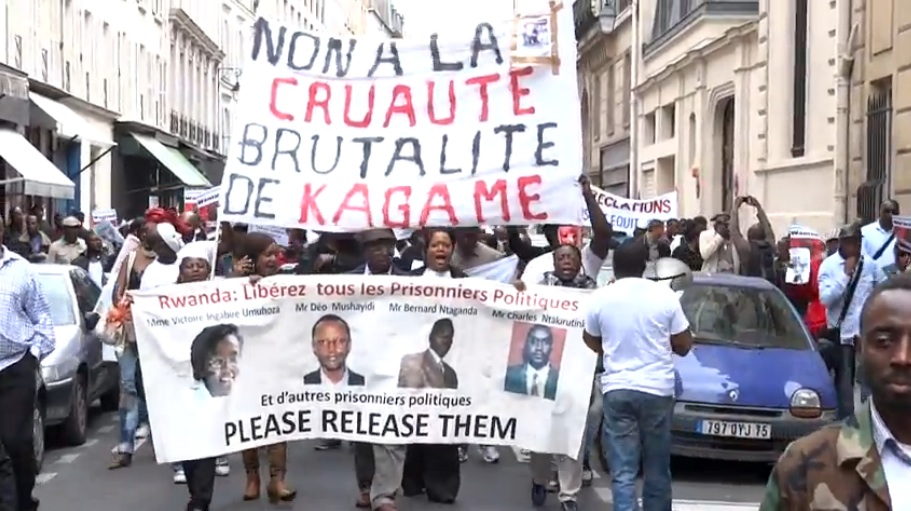 Anti-Kagame-protest-No-to-cruelty-brutality-of-Kagame-091211, Rwandan President Paul Kagame on the night of Troy Davis' execution, World News & Views