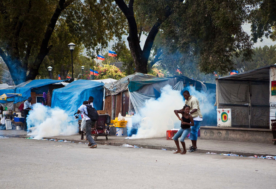 Anti-MINUSTAH-protest-UN-police-teargas-Champ-de-Mars-Port-au-Prince-091411-by-Frank-Thorp, Marthe Enice Cassandre St. Vil: Haitian family needs our help, World News & Views