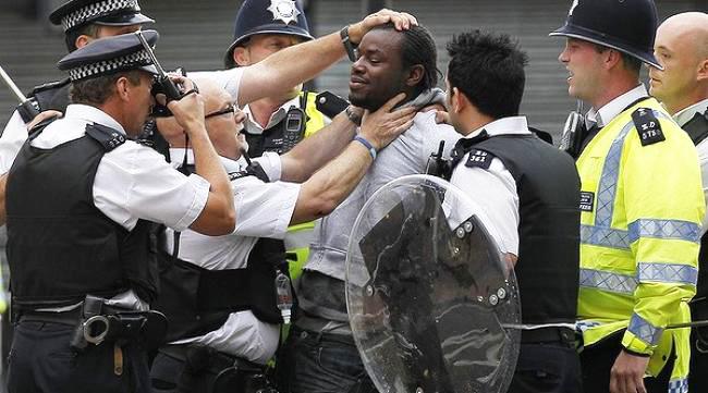 British-rebellion-cops-arrest-Black-man-0811, Cameron's riot response: Kick them while they're down, World News & Views