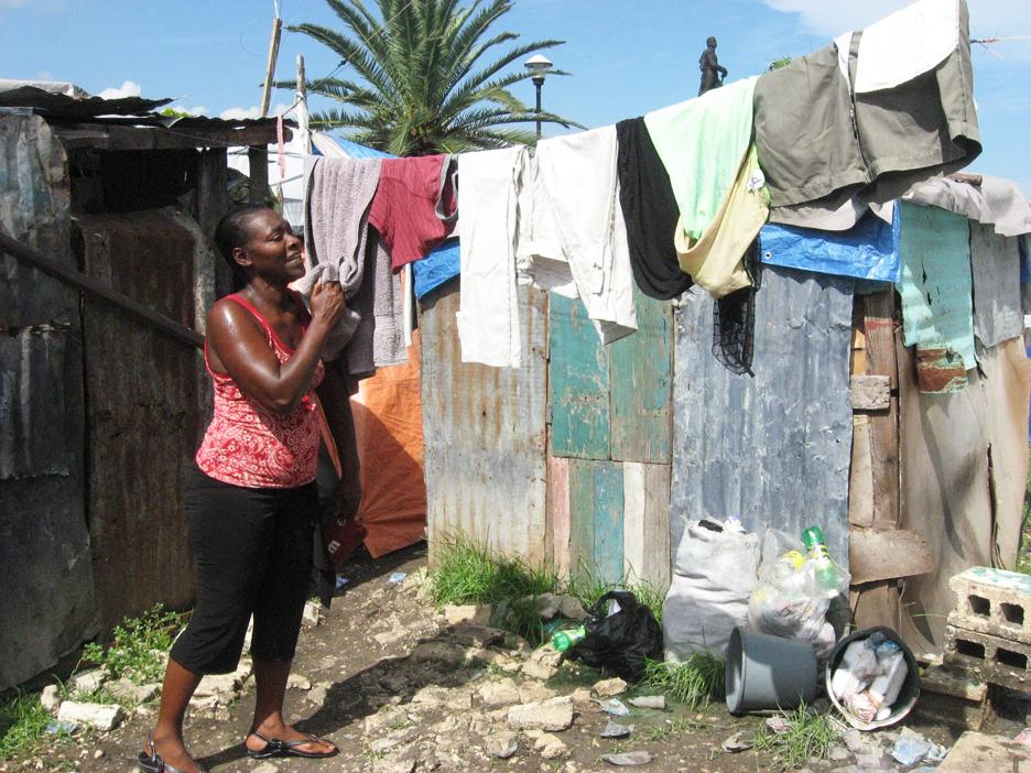 Cassandre-St.-Vils-mother-hangs-out-wash-Champ-de-Mars-Port-au-Prince-0810-by-Wanda-Sabir, Marthe Enice Cassandre St. Vil: Haitian family needs our help, World News & Views
