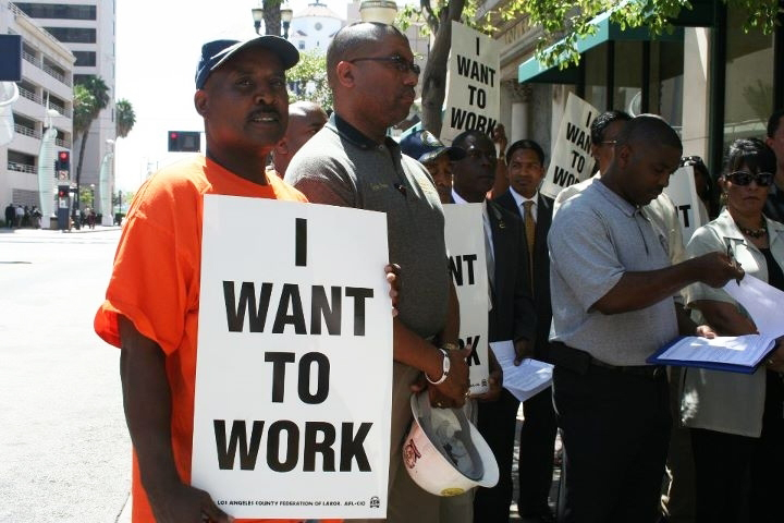 Construction-worker-Lee-Maxwell-%E2%80%98I-want-to-work%E2%80%99-at-SB-292-rally-090811-by-LA-Fed-Labor, Black workers leading the charge, National News & Views
