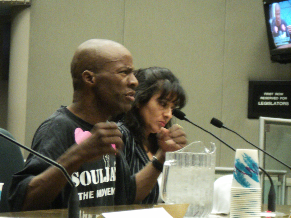 Earl-Fears-Glenda-Rojas-Hearing-on-Solitary-Confinement-Sac-082311-by-Wanda, Hearing on Solitary Confinement: seeking compassion in the capitol, Behind Enemy Lines