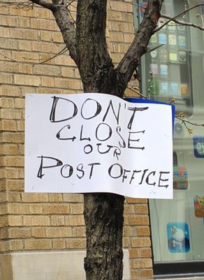 Sign-in-tree-Dont-close-our-post-office, Save our local post offices … and the entire U.S. Postal Service, National News & Views