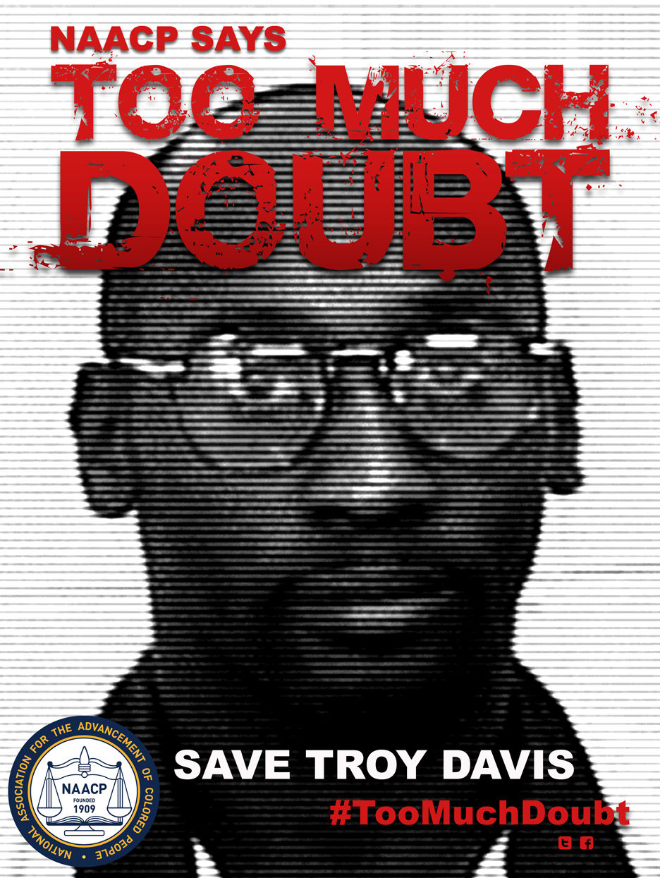 Troy-Davis-Too-Much-Doubt1, All out for Troy Davis: Global Day of Solidarity Friday, Sept. 16, all over the world, Behind Enemy Lines