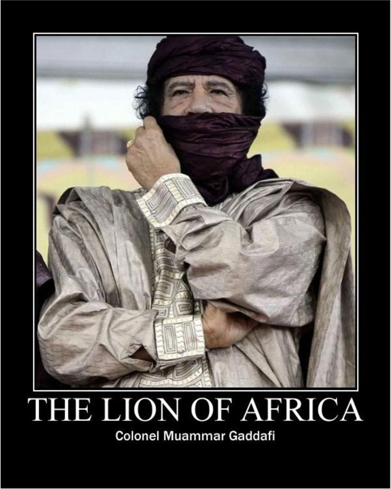 Col.-Muammar-Qaddafi-%E2%80%98The-Lion-of-Africa%E2%80%99, Venezuela's Chávez condemns assassination of Qaddafi as 'disregard for life', World News & Views