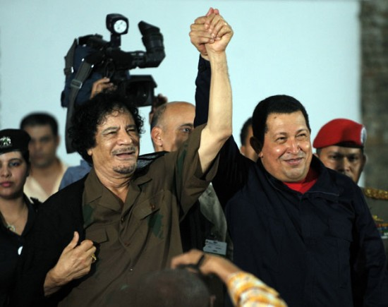 Hugo-Chavez-declares-support-for-Qaddafi-independent-Libya-no-West-invasion-022511, Venezuela's Chávez condemns assassination of Qaddafi as 'disregard for life', World News & Views