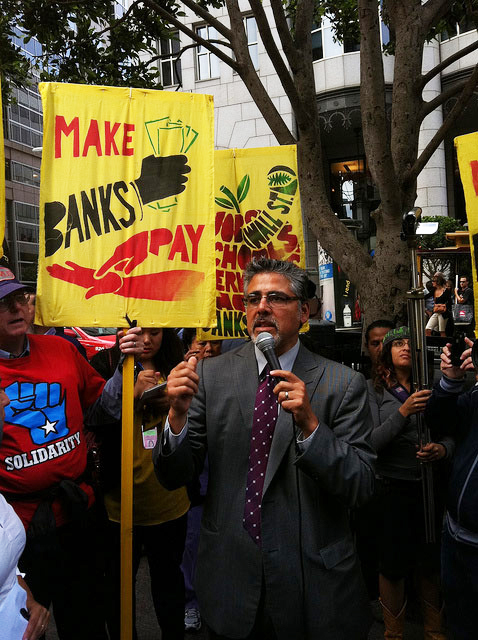 Occupy-SF-bank-protest-John-Avalos-Make-banks-pay-092911-by-Steve-Rhodes, B of A's last San Francisco stand: ED LEE, Local News & Views