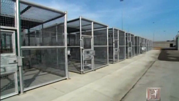 Corcoran-SHU-yard-cages, California prison hunger strikers propose '10 core demands' for the national Occupy Wall Street Movement, Behind Enemy Lines
