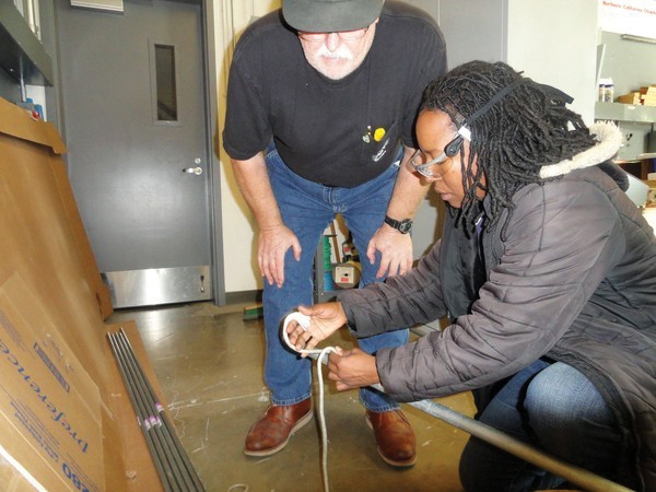 Retired-electrician-John-Disken-trainee-Kimberly-Husdon-33-new-class-union-training-hall-Oakland-1111-by-Tom-Abate, Why so few Black men are working, Local News & Views