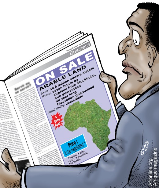 Africa-land-grab-cartoon-by-Afrique-Magazine-Afronline.org_, The new land grab in Africa, World News & Views