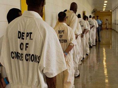 Georgia-prisoners-lined-up-in-prison-hallway, Georgia prison strike, one year later: Activists outside the walls have failed those inside the walls, Behind Enemy Lines