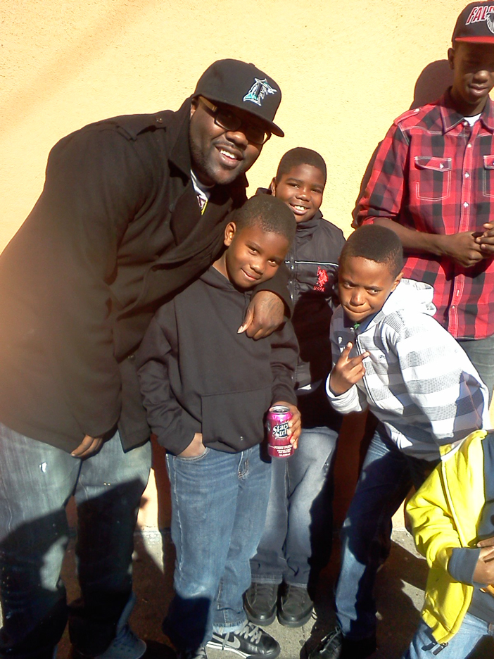 Mistah-F.A.B.'s-Christmas-toy-food-giveaway-122111-by-Michael-L.-Sanders, Mistah F.A.B. gives back to his community, Culture Currents