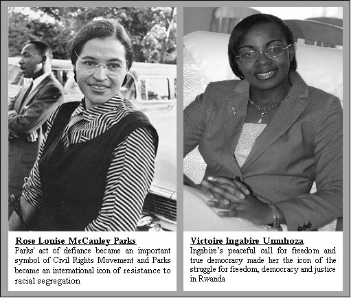 Rosa-Parks-Victoire-Ingabire, Rwanda will never be the same, after Victoire Ingabire's return, World News & Views