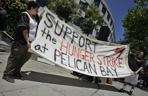 Banner-Support-the-hunger-strike-at-Pelican-Bay-at-SF-State-Bldg-rally-070111-by-Paul-Sakuma-AP, From Pelican Bay: CDCR to offset prison population cut by putting more men in solitary, Behind Enemy Lines