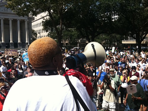 Occupy-NOLA-in-Lafayette-Square, A discussion on strategy for the Occupy Movement from behind enemy lines, Behind Enemy Lines