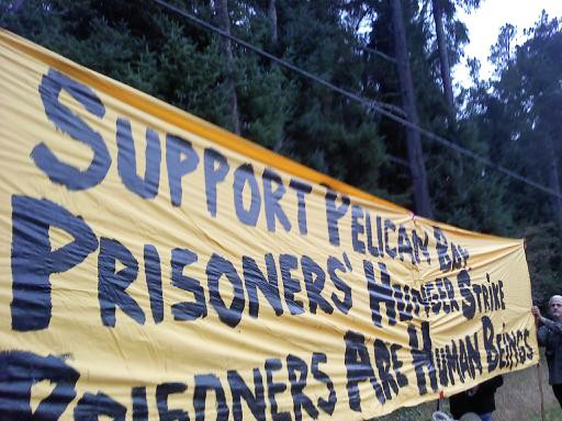 Pelican-Bay-prisoner-support-rally-at-gate-100111, From Pelican Bay: CDCR to offset prison population cut by putting more men in solitary, Behind Enemy Lines