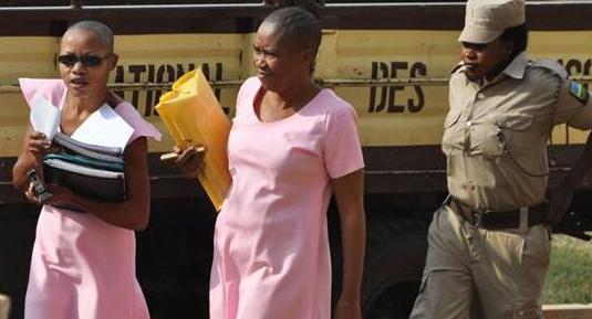Rwandan-journalists-Agnes-Uwimana-Nkusi-Saidati-Mukakibibi-at-Supreme-Court-Kigali-013012-cropped, Rwandan President Paul Kagame's war on journalists, World News & Views