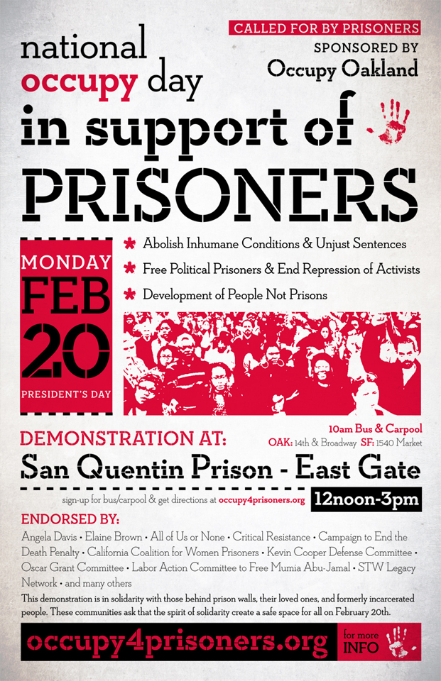 occupy4prisoners, National Occupy Day in Support of Prisoners: Feb. 20, Behind Enemy Lines