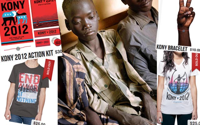 KONY2012-Colorlines-montage-inc.-Charles-12-former-LRA-soldier-Gulu-Uganda-by-Gianluigi-Guercia-AFP-Getty, Kony 2012's success shows there's big money attached to white saviors, World News & Views