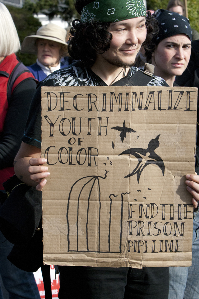 Occupy-San-Quentin-Decriminalize-youth-of-color-022012-12-by-Malaika-web, 1,500 strong march against slavery, Local News & Views