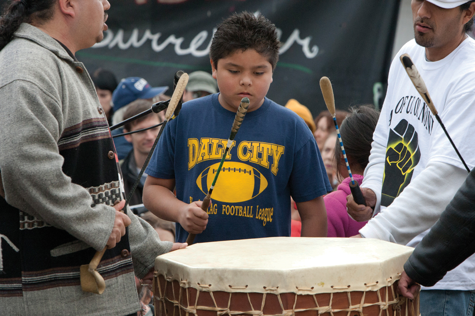 Occupy-San-Quentin-Indigenous-Nation-Drum-Circle-022012-6-by-Malaika-web, 1,500 strong march against slavery, Local News & Views