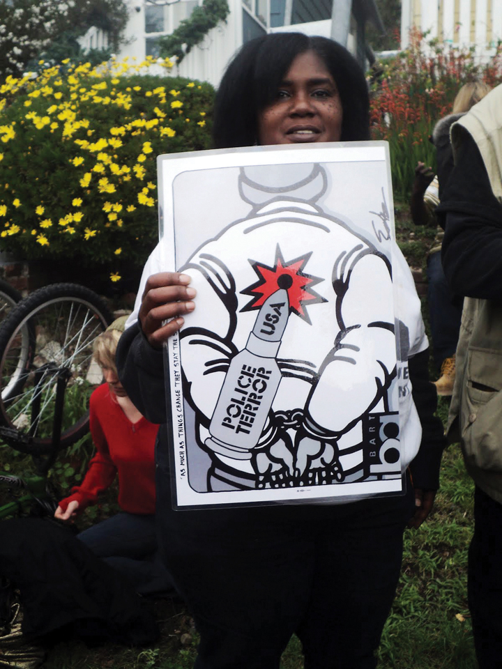 Occupy-San-Quentin-police-terror-target-022012-4-by-Wanda, Wanda's Picks for March 2012, Culture Currents