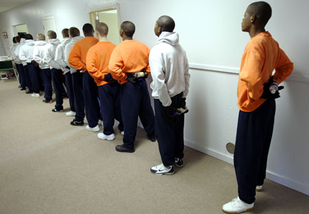 The Prison: Juvenile Boot Camp Prisoners, Alabama, 2012.  Photo by Rob Carr, AP.