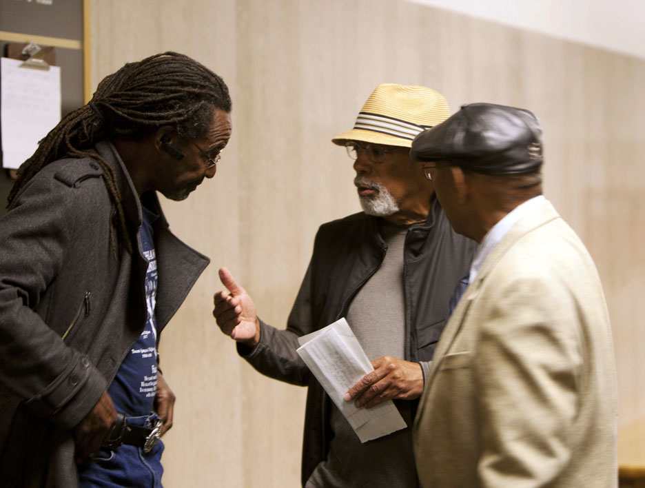 Claude-Carpenter-Earl-Black-Willie-Ratcliff-at-Fly-Benzo-sentencing-042712-by-Malaika, Fly Benzo is free, so why is Mendell Plaza a no Fly zone?, Local News & Views