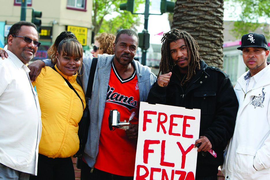 Free-Fly-Benzo-press-conf-rally-Mendell-Plaza-Mike-Brown-Denika-Kilo-Fly-Benzo-Marco-Scott-041812-by-Malaika, Fly Benzo is free, so why is Mendell Plaza a no Fly zone?, Local News & Views