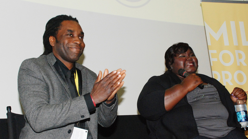 James-Faust-Gabourey-Sidibe-QA-DIFF-0412-by-Jackie-Wright, Big D does it big!, Culture Currents