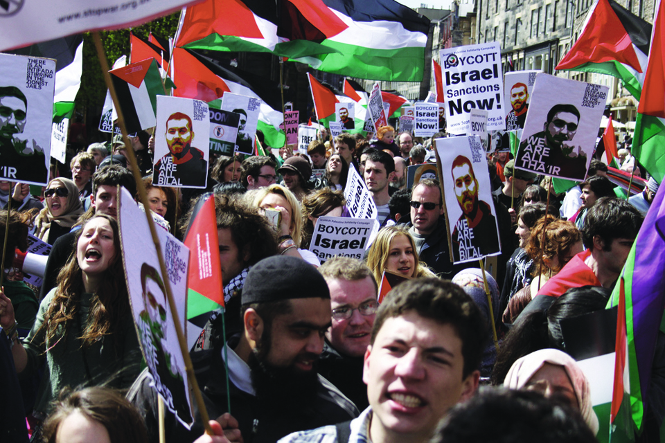 Palestinian-Prisoners-Day-500-students-march-to-occupy-BBC-Scotland-Glasgow-HQ-041712-by-WeAreAllHanaShalabi1, 1,600 Palestinian prisoners on hunger strike since April 17, World News & Views