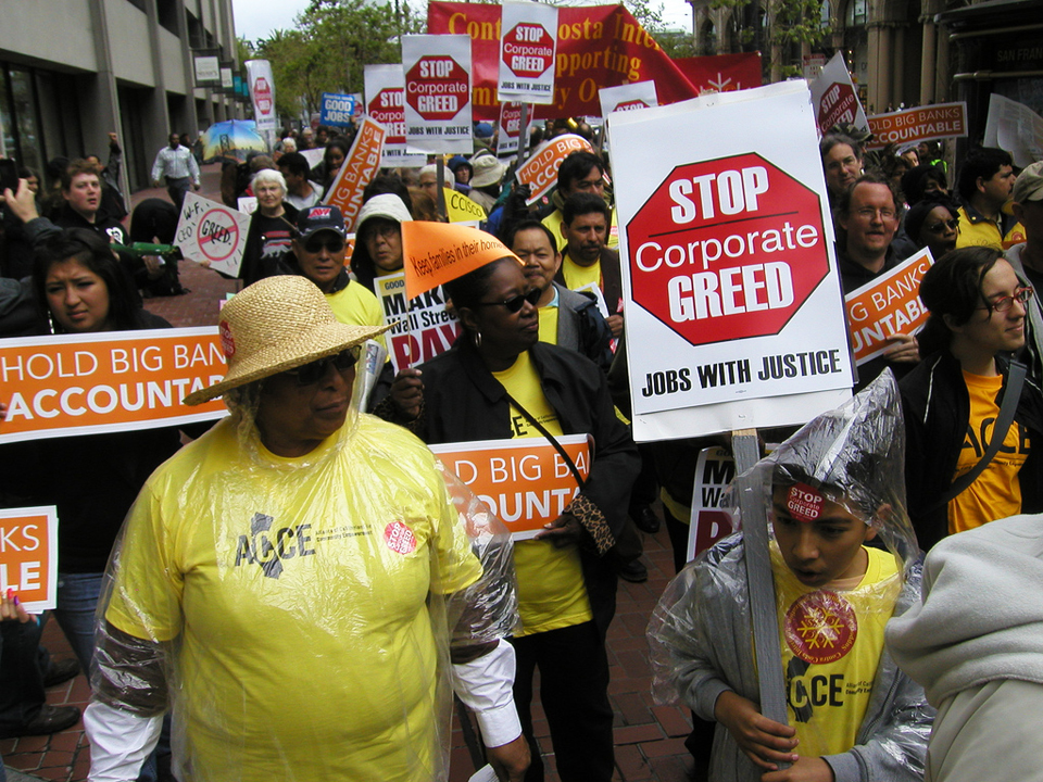 ACCE-anti-foreclosure-demonstration-2010, Wells Fargo threatens foreclosure leader Archbishop King's home – auction postponed again to July 20, Local News & Views