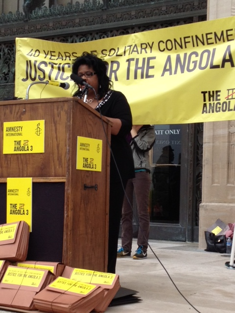 Angela-A.-Allen-Bell-Southern-Univ.-law-prof-Baton-Rouge-speaks-La.-capitol-Angola-3-40th-anniv.-in-solitary-041712-by-A3-Coalition, Solitary confinement on trial: an interview with law professor Angela A. Allen-Bell, Behind Enemy Lines