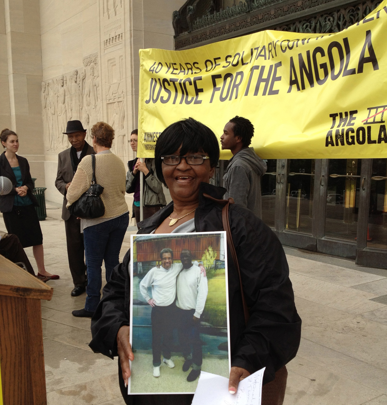 Vikki-Wallace-Angola-3-AI-press-conf-petition-delivery-to-Gov.-Bobby-Jindal-Louisiana-capitol-041712-by-A3-Coalition, Solitary confinement on trial: an interview with law professor Angela A. Allen-Bell, Behind Enemy Lines