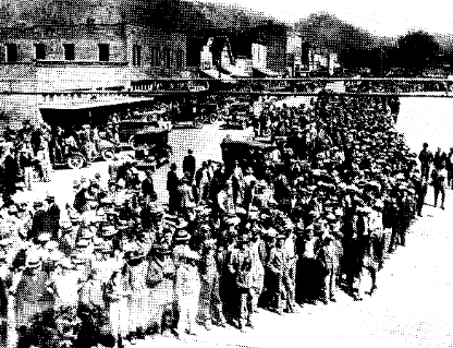 Crowd-in-street-during-Scottsboro-Boys-first-trials-1931, 'The Scottsboro Boys,' a review, Culture Currents