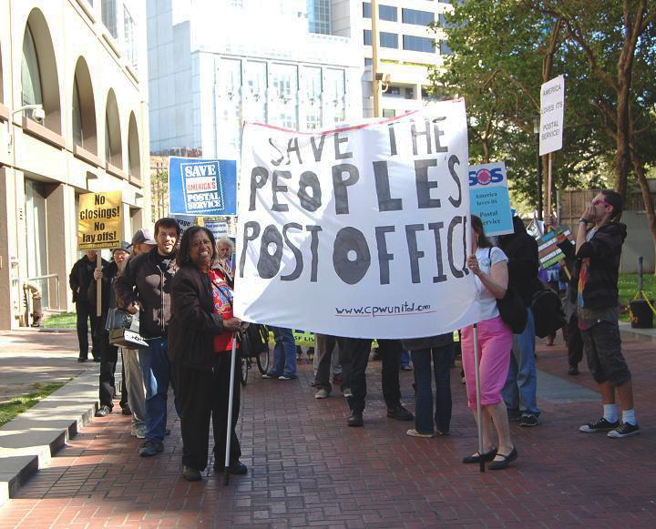 March-to-Save-the-People's-Post-Office-begins-at-Civic-Center-PO-062712-by-Patricia-Jackson, March to Save the People's Post Office: 200 march and occupy San Francisco's Civic Center PO, Local News & Views