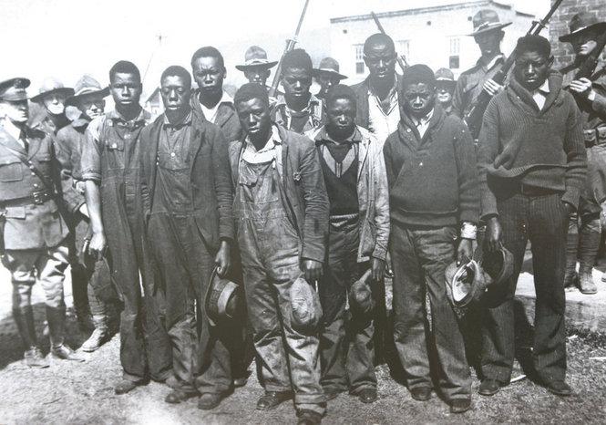 Scottsboro-Boys-arrested-National-Guard-1931-court.-Scottsboro-Boys-Museum, 'The Scottsboro Boys,' a review, Culture Currents