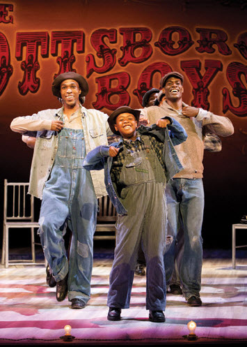 Scottsboro-Boys-at-ACT-0612-Olen-Montgomery-David-Bazemore-Eugene-Williams-Nile-Bullock-Clarence-Norris-Eric-Jackson-by-Henry-DiRocco, 'The Scottsboro Boys,' a review, Culture Currents