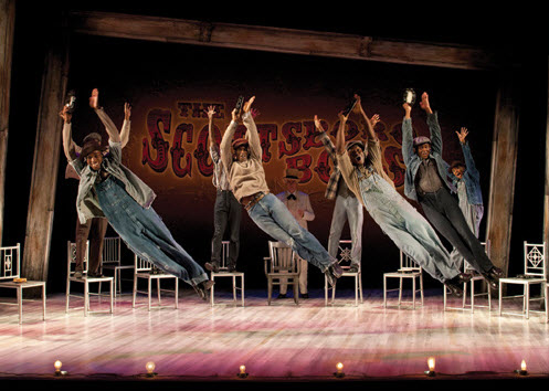 Scottsboro-Boys-at-ACT-0612-cast-by-Henry-DiRocco, 'The Scottsboro Boys,' a review, Culture Currents
