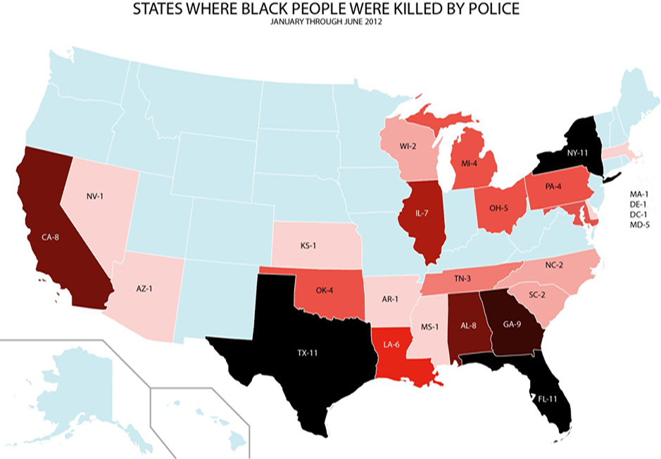 States-Where-Black-People-Were-Killed-by-Police-graphic-from-MXGM-Extrajudicial-Killings-report-0712, Remembering Kenneth Harding: No stop 'n Frisco!, Local News & Views